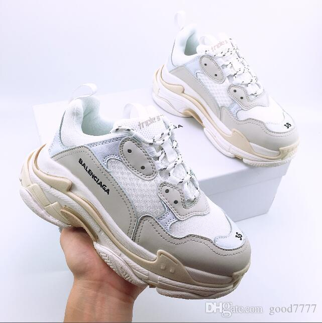 3ebd84a6831b New Arrival 2018 Top Quality Triple S Sneakers Men Women Triple S Trainers  Running Shoes Sports Shoes Size 36 44 Buy Shoes Online Slip On Shoes From  ...