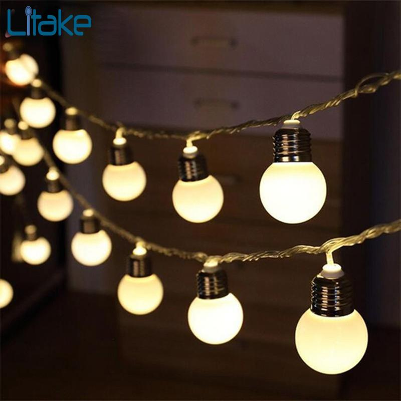 Litake 5m 20led Bulb Globe String Lights With Clear Bulb Backyard Patio  Lights Vintage Bulbs Decorative Outdoor Garland Wedding Copper String Lights  Paper ...