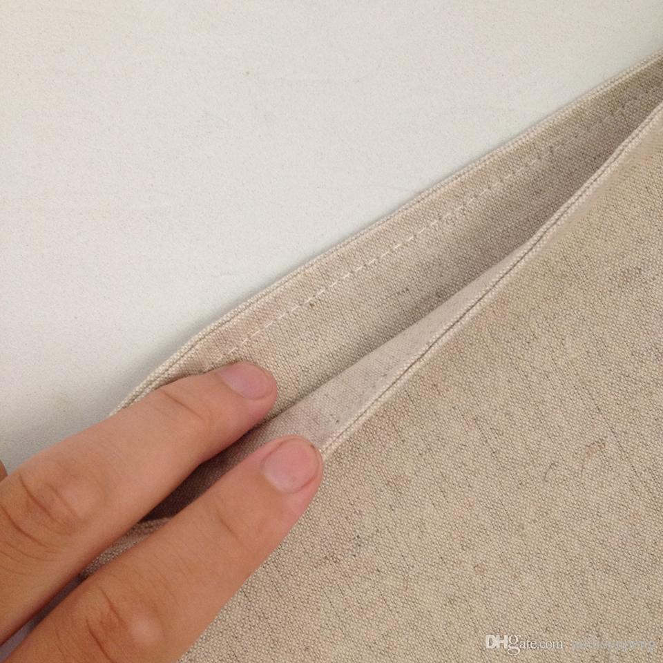 bolsa de media en blanco lino natural de la Navidad para la alta calidad decorativa del bolso de almacenamiento de Navidad de los bolsos de calcetín decorativos de la fábrica