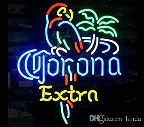 corona extra Sign DIY Glass LED Neon Sign Flex Rope Light Indoor/Outdoor  cocktails and dreams Decoration RGB Voltage 110V-240V 17*14 inches