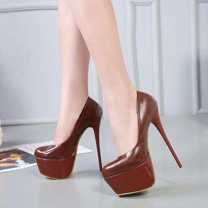 e319477cfb9 Nightclub Party Events Super Platform Stiletto High Heels Pumps 16cm Women  Designer Shoes 2018 Size 34 To 40