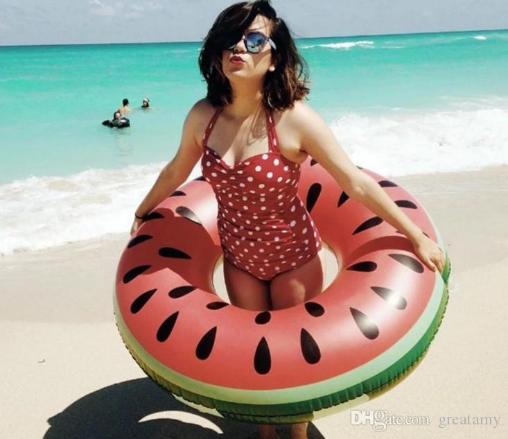 Watermelon swimming ring inflatable floats pool swimming float for kids adult floats swim ring water sports toys