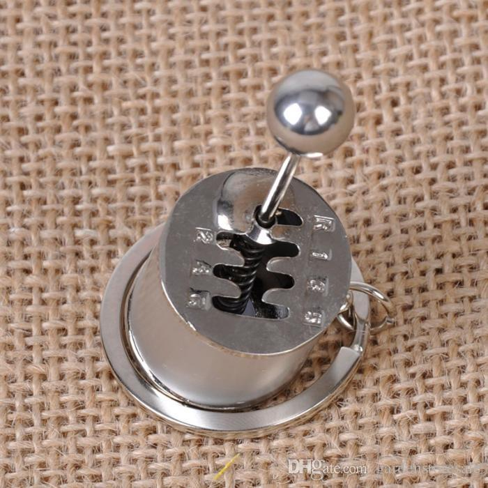 Fancy Modified Turbo Keychains Gear Head Key Chain Wave Box Keyring Key Rings Keyfob Accessories Free Shift