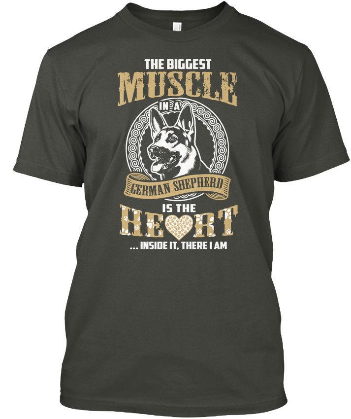 ead1fac80dff Comfy T German Shepherd The Biggest Muscle In A Is Wholesale Cool Casual  Sleeves Cotton T Shirt Fashion New T Shirts Tagless Tee T Shirt Ti Shirt  Best T ...