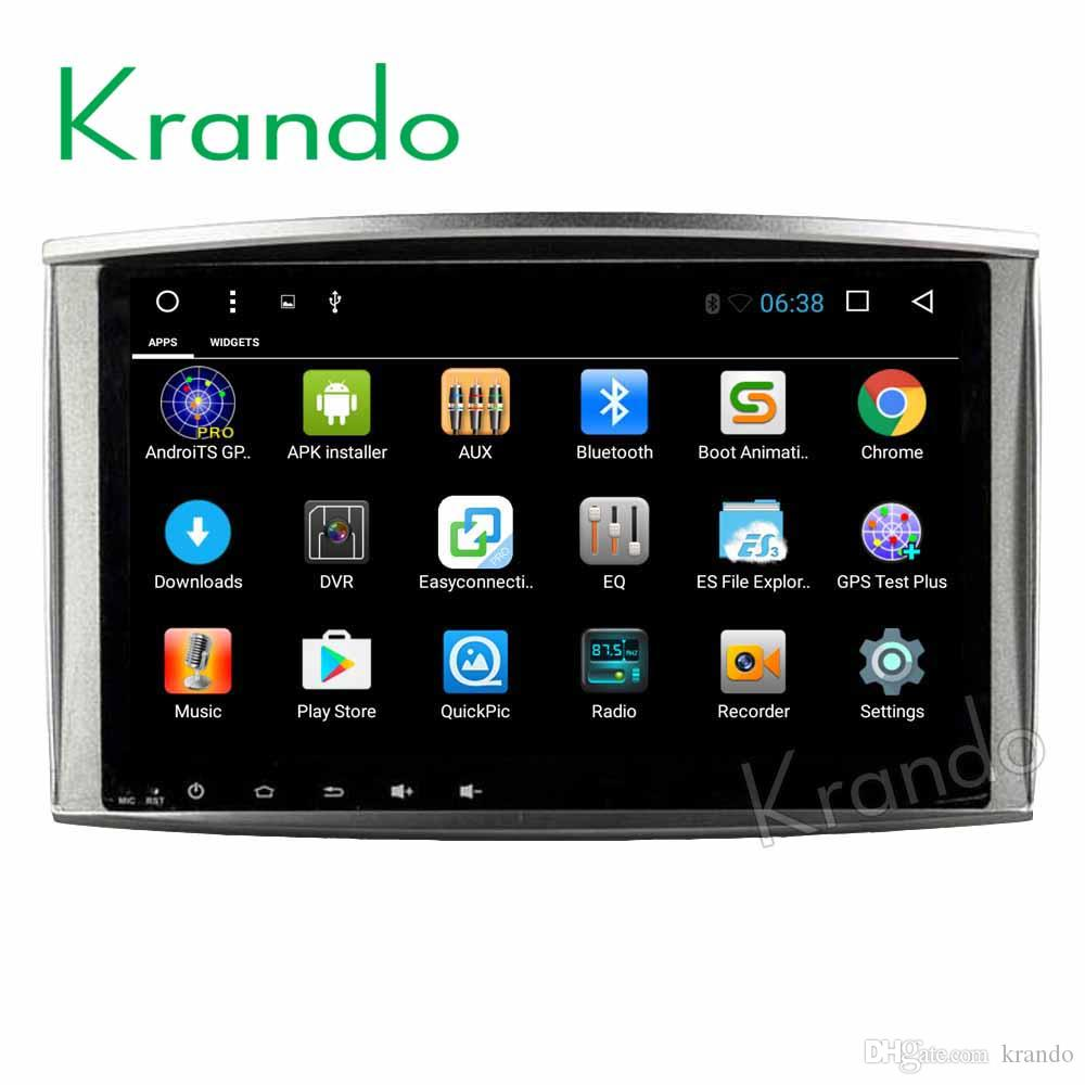 Krando Android 7.1 9 Car Dvd Audio Player Navigation Gps For Toyota Land  Cruiser 100 LC100 Lexus IX470 Audio Multimedia System Portable Dvd Player  For ...