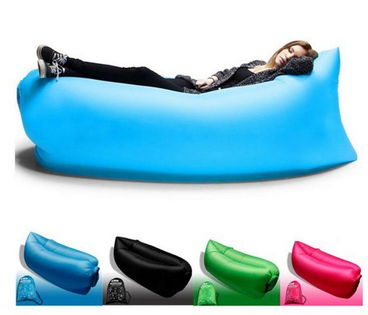 DHL Lounge Sleep Bag Lazy Inflatable Beanbag Sofa Chair, Living Room Bean Bag Cushion, Outdoor Self Inflated Beanbag Furniture 2018