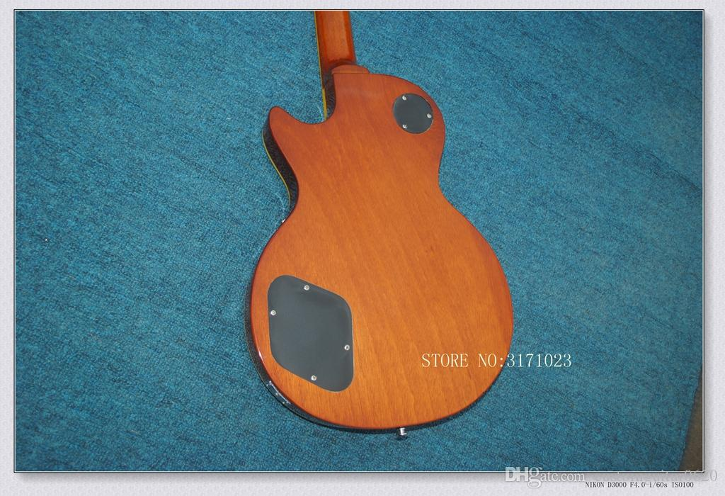 China Guitar Best Tiger Flame Maple Top Custom Shop Brown Mahogany Body 1959 R9 Electric Guitar