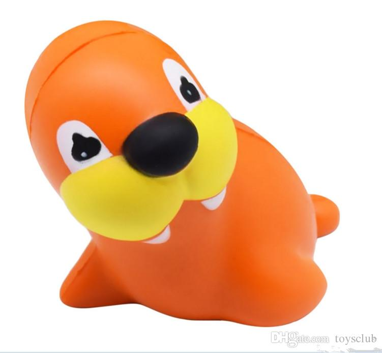 12cm Squishy Sea Lion Slow Rising Squeeze Stress Reliever Pinch Toy Kawaii Animals Doll Kids Home Decor Gift