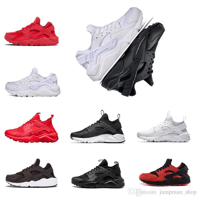 Huarache 4.0 1.0 Clásico Triple Blanco Negro rojo hombres mujeres Huarache Zapatos Huaraches zapatillas deportivas Zapatillas de correr tamaño eur
