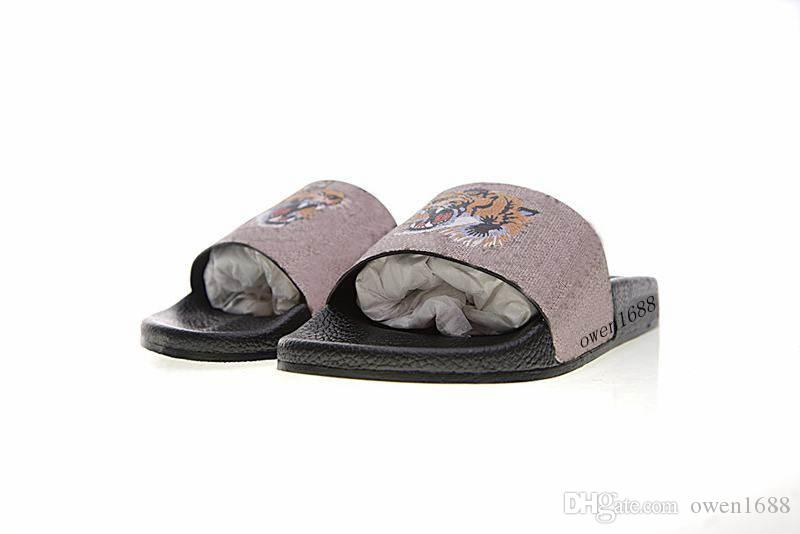 343abbed5680 Fashion Tiger Slide Sandals Rubber Flip Flops Mens And Womens Bengal ...
