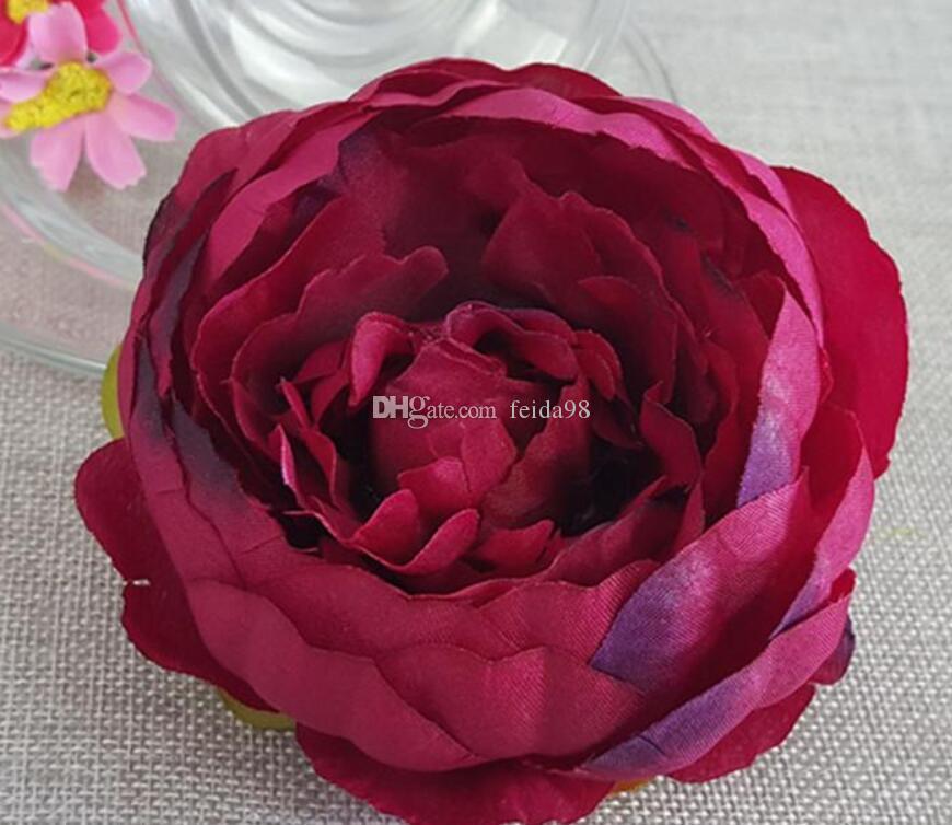 結婚式の装飾のための造花シルク牡丹の花の頭パーティーの装飾花の壁の結婚式背景ホワイト牡丹G1246