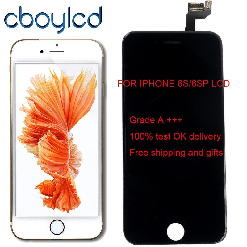 7c9c4694f8f Pantallas De Telefonos Grado A + 4.7 5.5 Pantalla Táctil Digitalizador  Ensamblaje De Marco Reparación Para IPhone 6S 6S Plus LCD Blanco Negro O +  Inicio ...