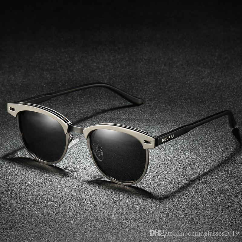 ac8a5e5e625 Glasses Men Polarized Sunglasses Classic Retro Brand SunGlasses Coating  Drive Night Vision Eyewear UV400 Goggles Sunglasses Female Classic Lens  Mirror Eye ...