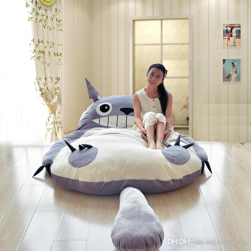 Acheter 200x170cm Grand Matelas Totoro Lit Double Geant Totoro