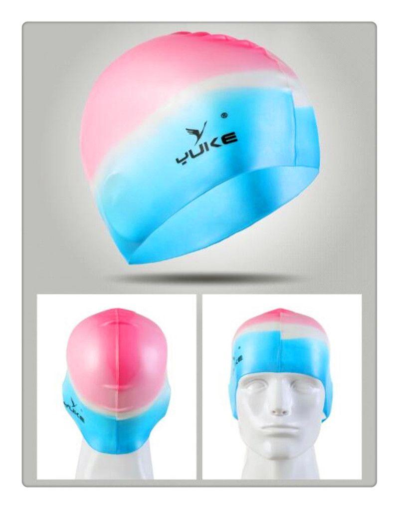 Neue wasserdichte Silikonschwimmkappe Erwachsenschwimmen UnisexSilicagel-Ohr-Schutz-Schwimmen-Kappen-Mann-Frauen-Silikon-Kappen-Schwimmenhut