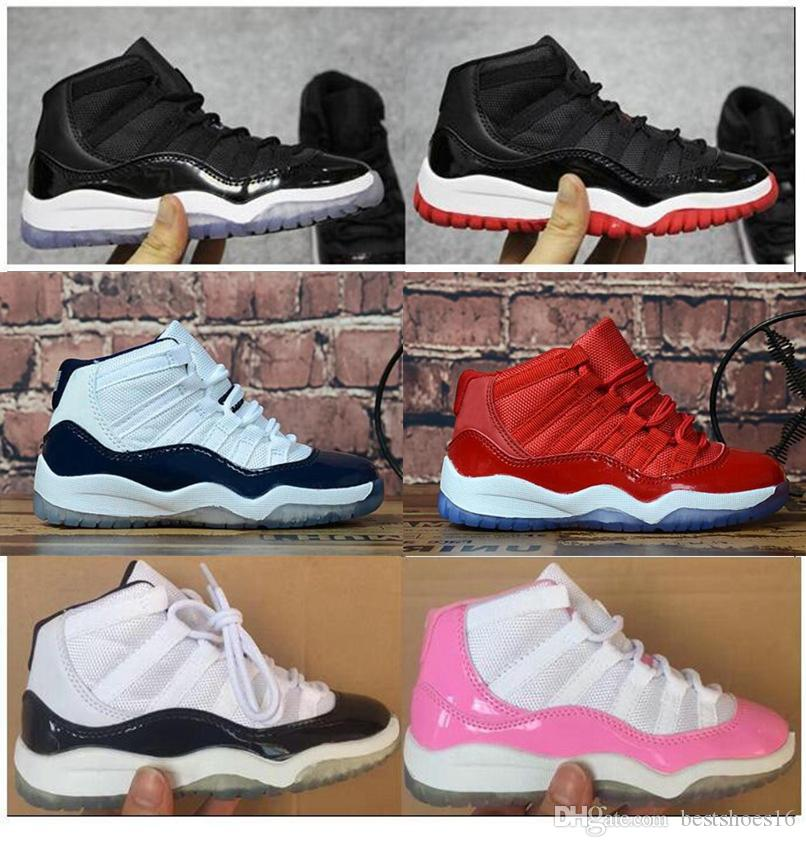 Kids Shoes 11 11s Space Jam Bred Concord Gym Red Basketball Shoes ... 5c0bc07842b5