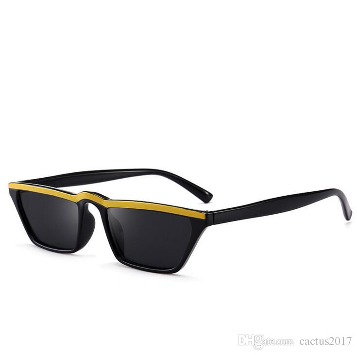 ac31ff0c37 Gradient Sunglasses Cat Eye Hot 2018 Square Small Sunglasses Women Flat Top  2018 Retro Vintage Women Man Small Shades Shopaholic Cheap Prescription ...