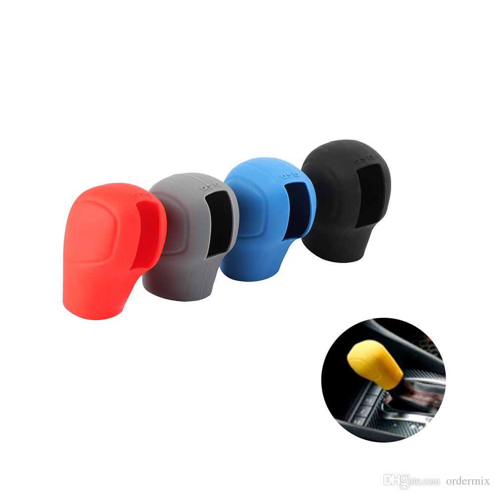 Random Color!! Universal Manual Car Silicone Gear Shift Collars Cover Handbrake Grips For car