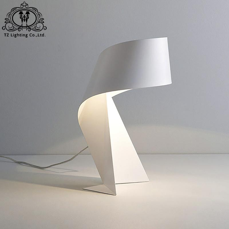 . TZ Modern Iron Origami Crafts Table Lamp Creative folded paper Lamp Bedroom  dining room living room Bar Paper Crafts Table