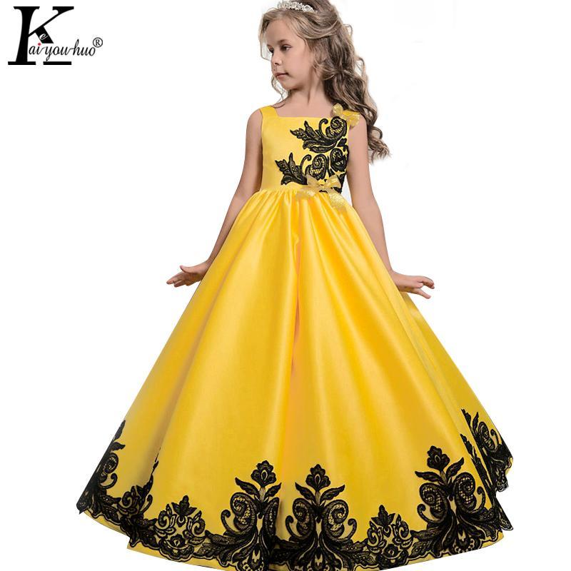 eeb34d12d76e4 Acheter 2017 Nouvelle Robe De Noël Enfants Robes Pour Filles Vêtements  Adolescents Princesse Robe De Mariée Vestidos 5 6 7 8 9 10 11 12 13 14  Années De ...