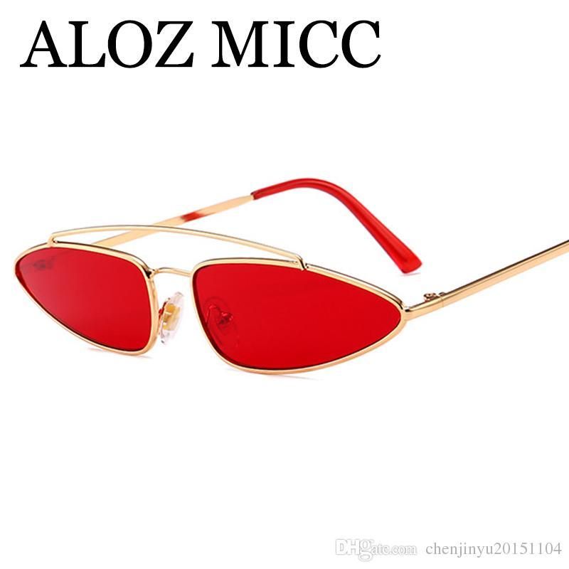 c9bb4628b43 ALOZ MICC High Quality Triangle Cat Eye Sunglasses Women Vintage Metal Frame  Men Double Bridge Sun Glasses UV400 A497 Cycling Sunglasses Running  Sunglasses ...