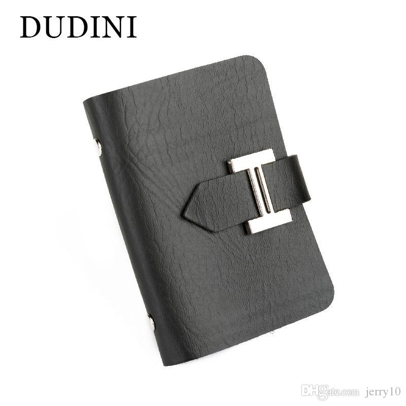 24344425a143 DUDINI New Men   Women Business Cards Wallet Simple PU Leather ...