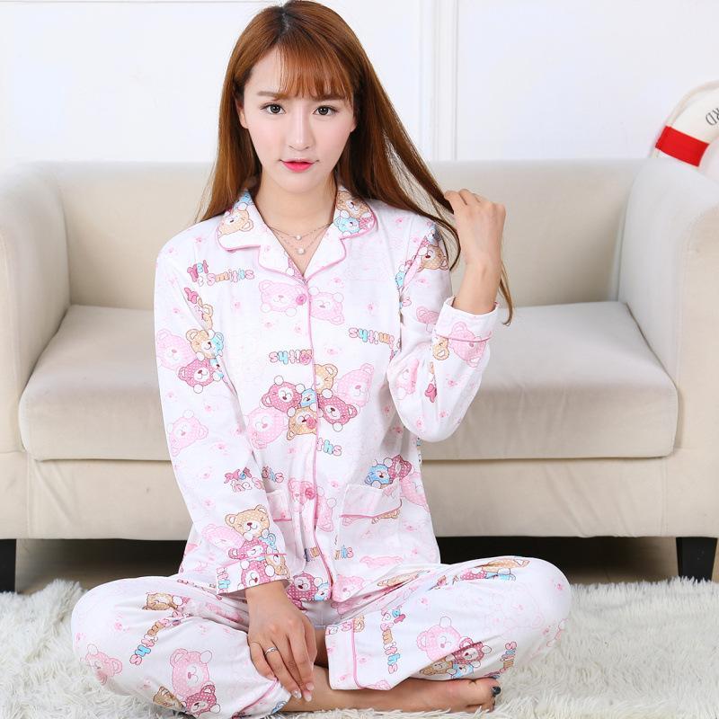 36db5102e Compre Pijamas Para Damas Conjunto De Dos Piezas En Algodón Ocio De Moda De  Gran Tamaño Y Moda Cómoda Y Cómoda Para El Hogar.