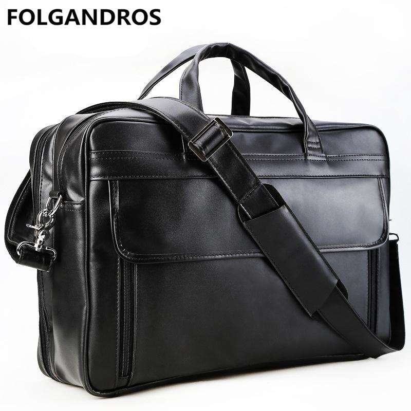 18240f162 Men's Genuine Leather Briefcase Large 17