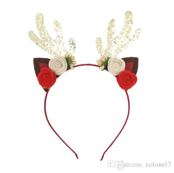 antler headband halloweenchristmas party antlers ears shape hair accessories for dressing up diy dance hair accessories designer hair accessories from