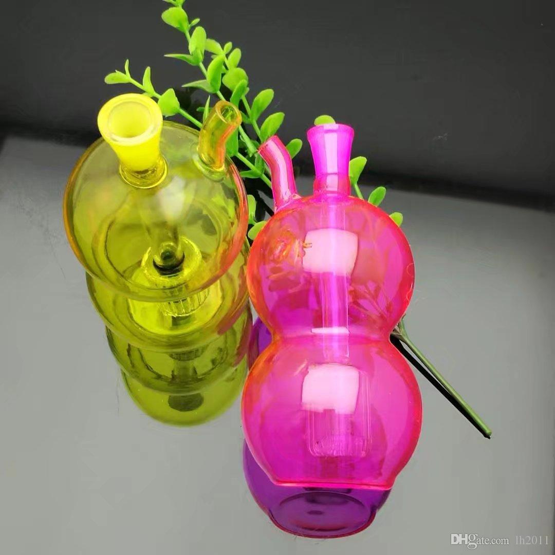 El color del vaso de agua Snuff Bottle Gourd, Bongs al por mayor Quemador de aceite Tubos de vidrio Tubos de agua Tubo de vidrio Plataformas de aceite que fuman Envío gratis