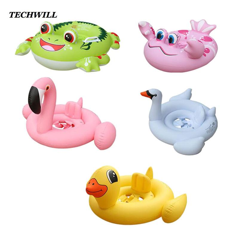 2018 Crab Flamingo Inflatable Ring Baby Cute Swimming Rings For 1 6 ...