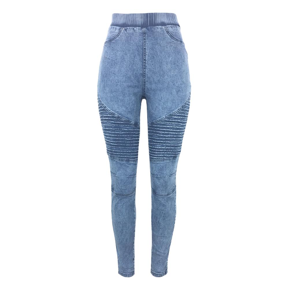 22c10759618 Women Skinny Jeans Autumn Winter Denim Jeggings High Waist Elastic Jeans  Leggings Washed Ruched Skinny Pencil Trousers Tights Online with   47.24 Piece on ...