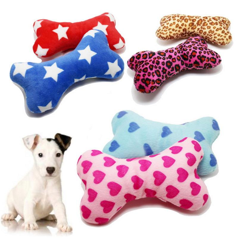 Cute Strip Plush Pet Dog Cat Sound Squeakers Squeaky Toy For Small Puppy Chew Play Bone Product Activity Toys And From May8888