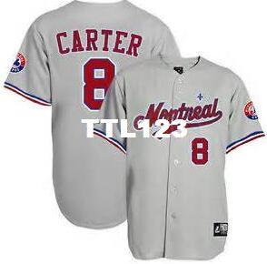2fe9992b ... jersey blue; best retro custom 8 gary carter montreal expos 1992 home  or custom any name or number
