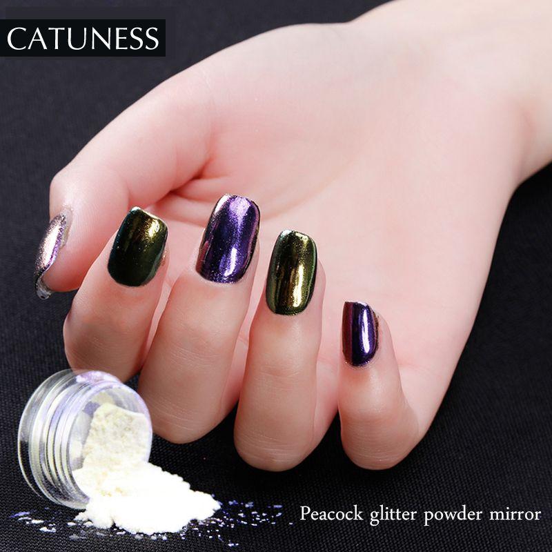 CATUNESS Glitter Powder UV Gel Polish Sugar Chrome Manicure For ...
