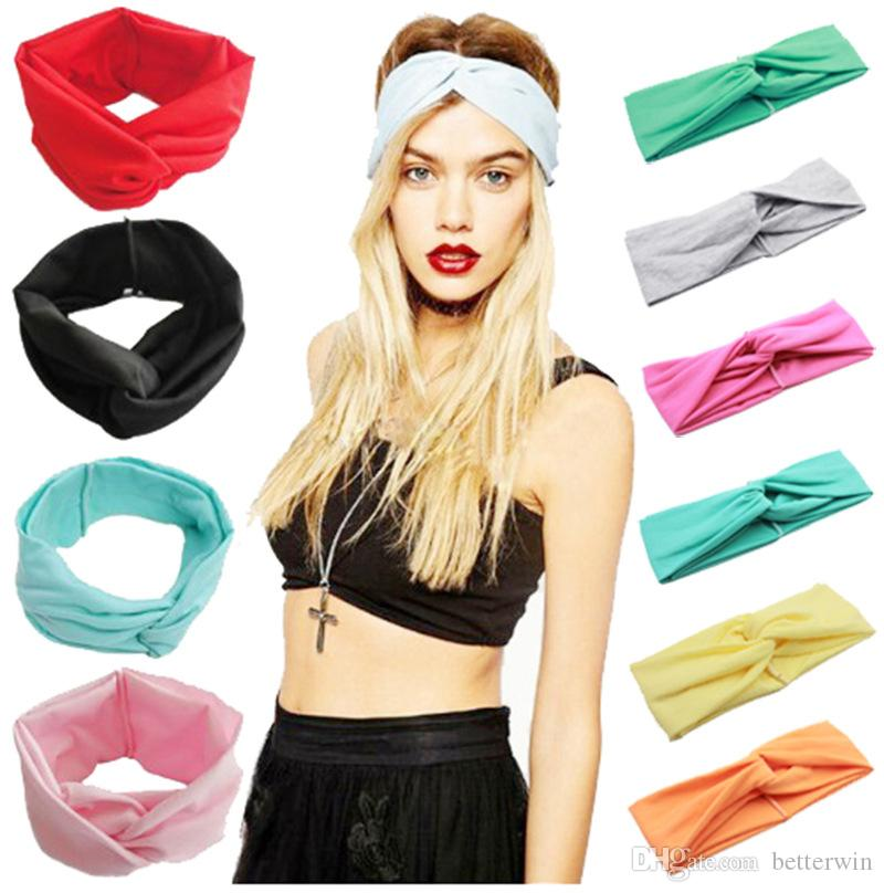 Großhandel 50 Teile / Los Frauen Headwear Mädchen Twist Elastic ...