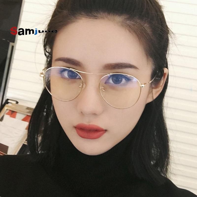 b856d17e40 2019 SamjuneNew Arrival Women Round Clear Frame Eyeglasses Transparent Gold Glasses  Metal Vintage Prescription Eyewear Eyewear From Xiamenwatch