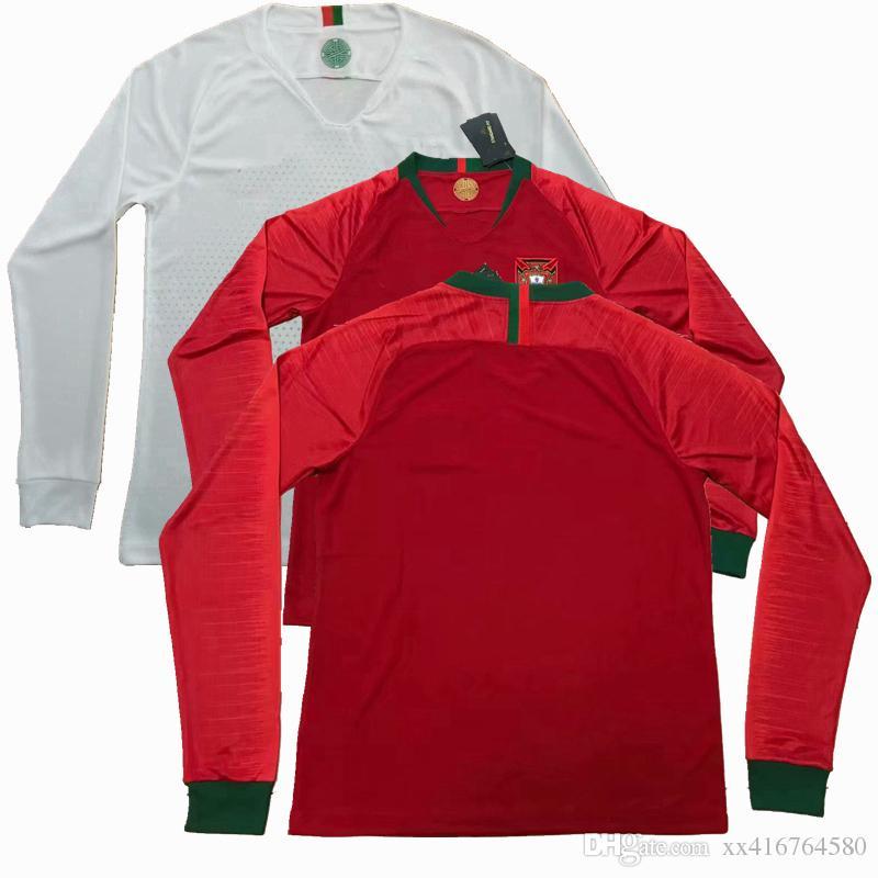 Compre Novo ! 2018 2019 Portugal Manga Longa ANDRE SILVA QUARESMA Camisas  Casa Longe De Futebol Camisas De Futebol S 2XL De Xx416764580 f6c827c742693