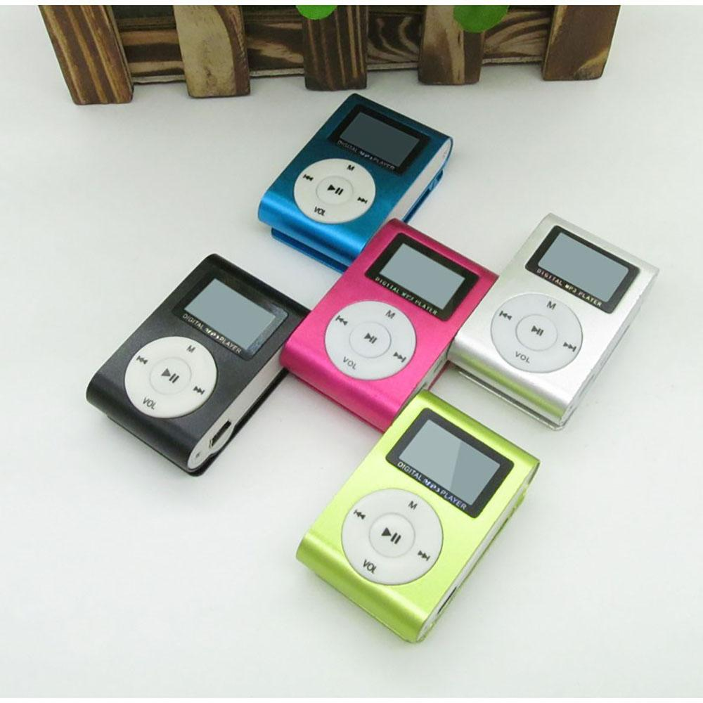 New Top Sale Fashion Mini mp3 USB Clip Lettore MP3 Supporto schermo LCD 32GB Micro SD TF CardStrumento elegante Design compatto