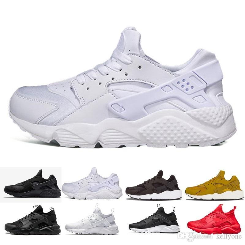 best sneakers 7fa61 98212 Compre Nike Air Huarache 4 2018 Nueva Huarache Running Shoes Huaraches  Rainbow Ultra Breathe Zapatos Hombres Mujeres Huaraches Multicolor Sneakers Air  Size ...