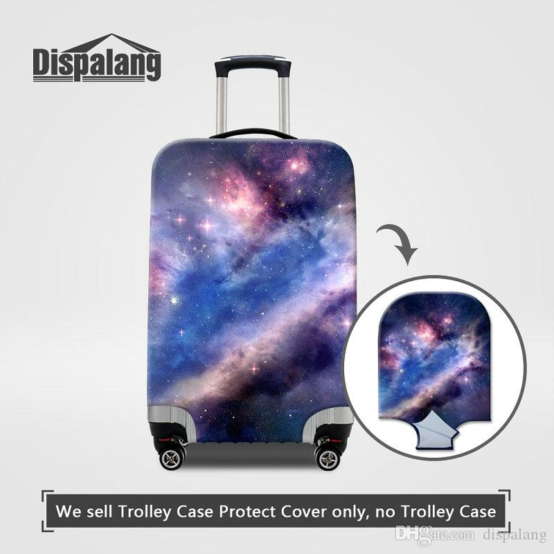 Travel On Road Luggage Protective Cover Galaxy Dust Rain Protector Covers For 18~30 Inch Universe Space Printed Women Men Travel Accessories