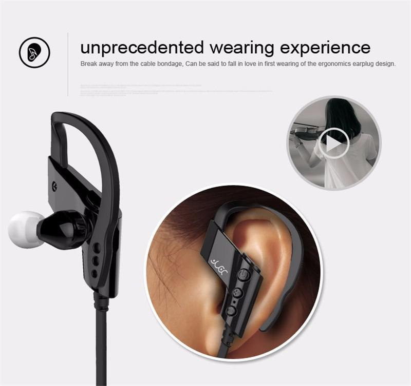 Original YUER S-501 Sports Bluetooth Headphones Waterproof Sweatproof Ear Hook Wireless Earphone CSR 4.1 HiFi Headset