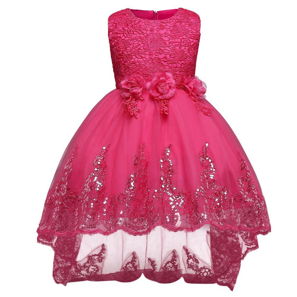 New Summer Spring Princess Flower Girl Dress Wedding Birthday for Girls Children's Teenager Party Dresses Prom Designs Clothing