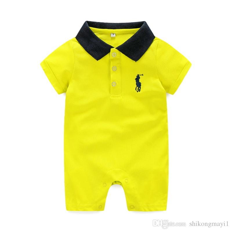 Retail New arrival Baby Rompers Cotton baby boy girl summer short sleeve costume Jumpsuits Roupas Bebes Infant Clothing