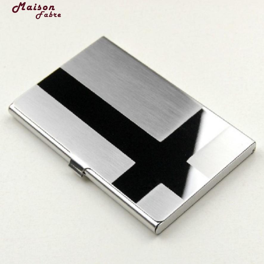 New Fashion Luxury Brand Metal Silver Aluminium Business Card Holder ...