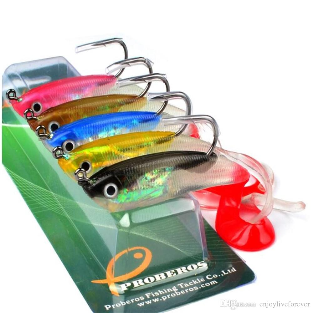 Soft Shad Lead Fish 10cm 14.7g Lure Fishing Tackle Silicone Bionic Soft Bait with Single Fishing Hook