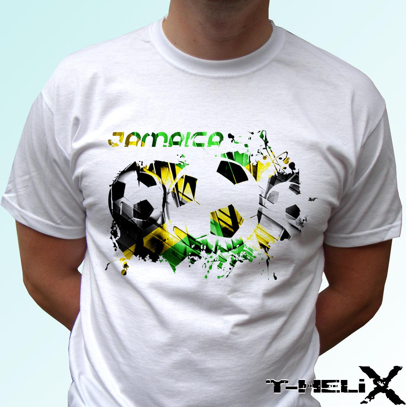 381132c06 Jamaica Football Flag White T Shirt Top Soccer Tee Mens Womens Kids Baby  Ool Casual Pride T Shirt Men Unisex Shirts With Designs R Shirt From  Designtshirts
