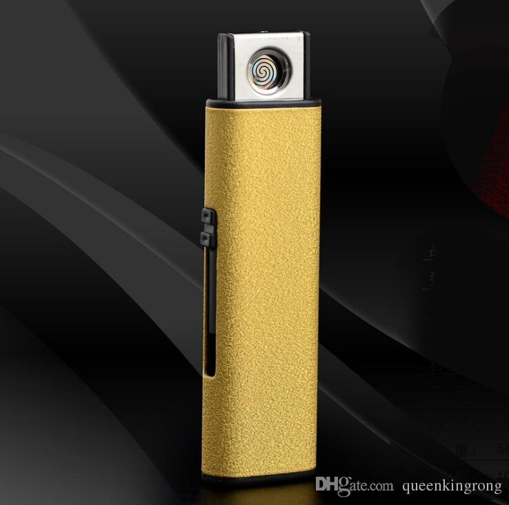 New Arrival Frosted Metal Plastic Usb Rechargeable Electronic Electric Cigar Cigarette Lighters Windproof Can Custom Logo For Smoking Tools