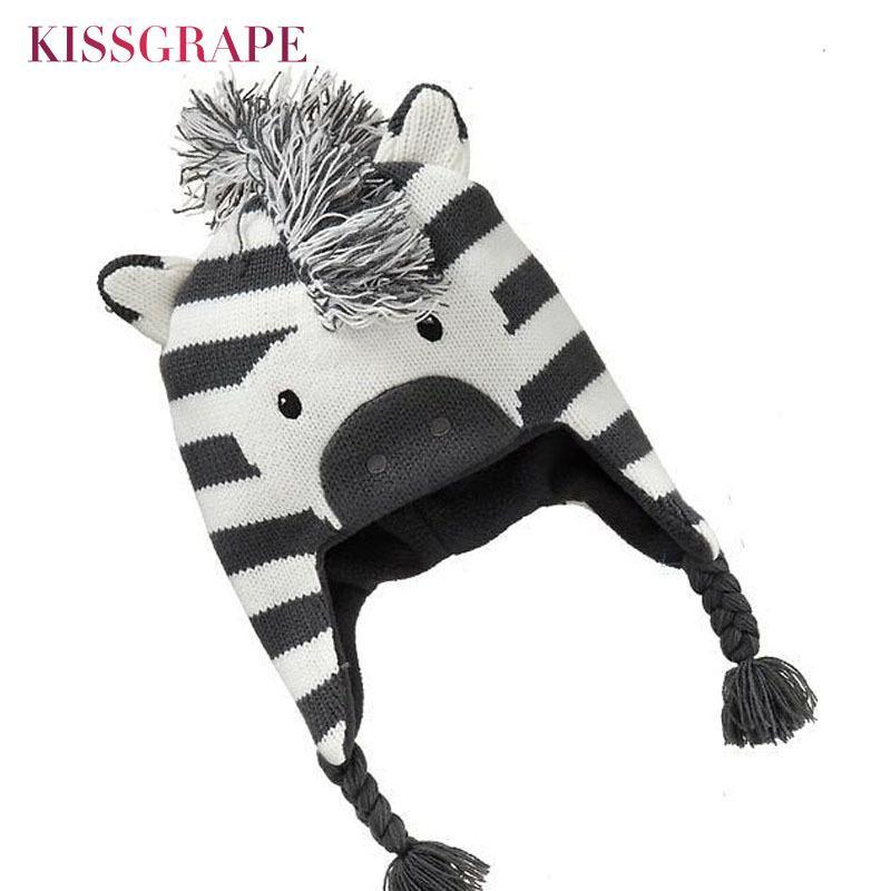 consegna veloce assolutamente alla moda fornire un sacco di Cappellini per bambini Cappelli invernali per bambini Cartoni animati con  motivo a zebra Cartellini per bambini Cappelli per berretti Cuffie per ...