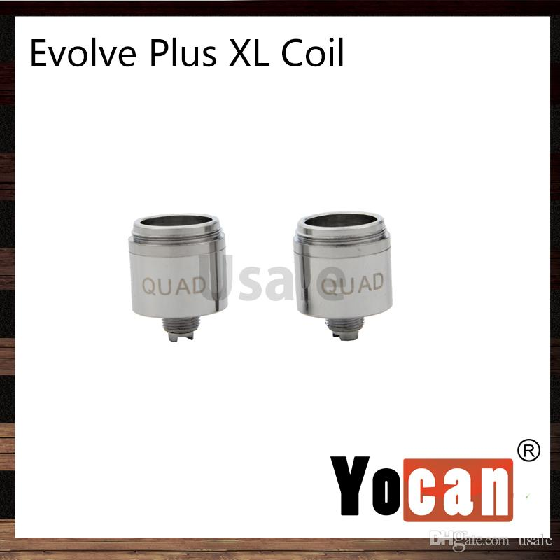Yocan Evolve Plus XL Wax Coils Технология Quad Coil Четыре стержня Quatz Катушка для Evolve Plus XL Vape Pen Kit 100% оригинал